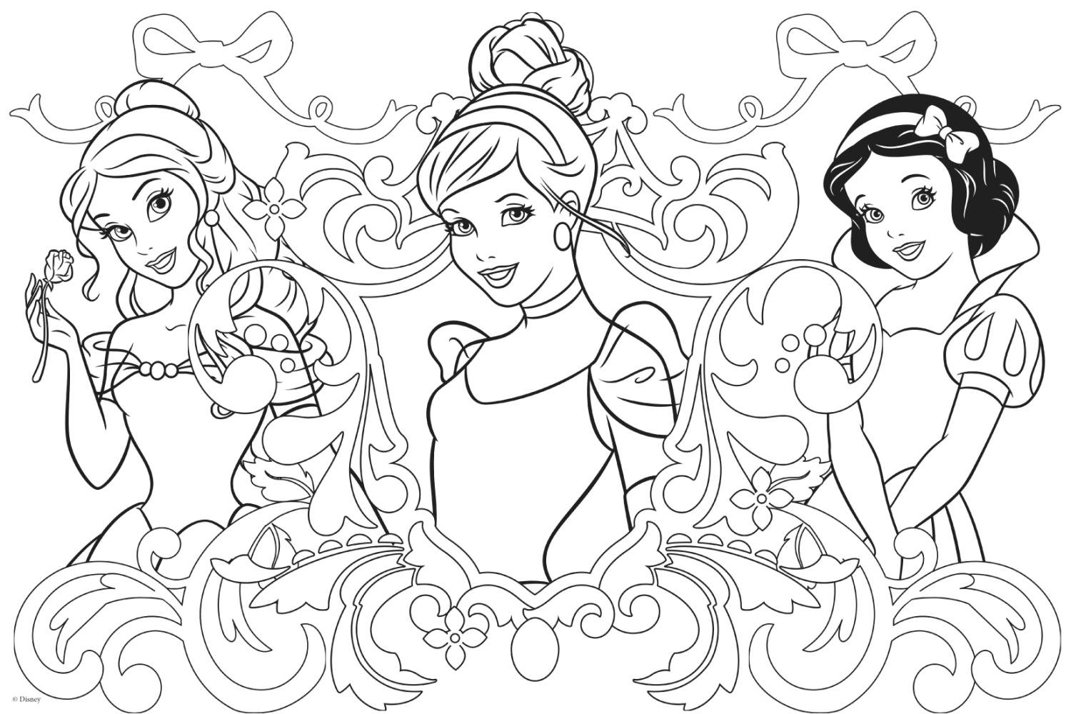 Disegni da colorare principesse disney ariel for Principesse disney da colorare