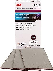 3M Trizact Hookit Foam Sheet, 30190, 2 3/4 in x 5 1/2 in (70 mm x 140 mm), 3000 grade, 5 sheets per pack