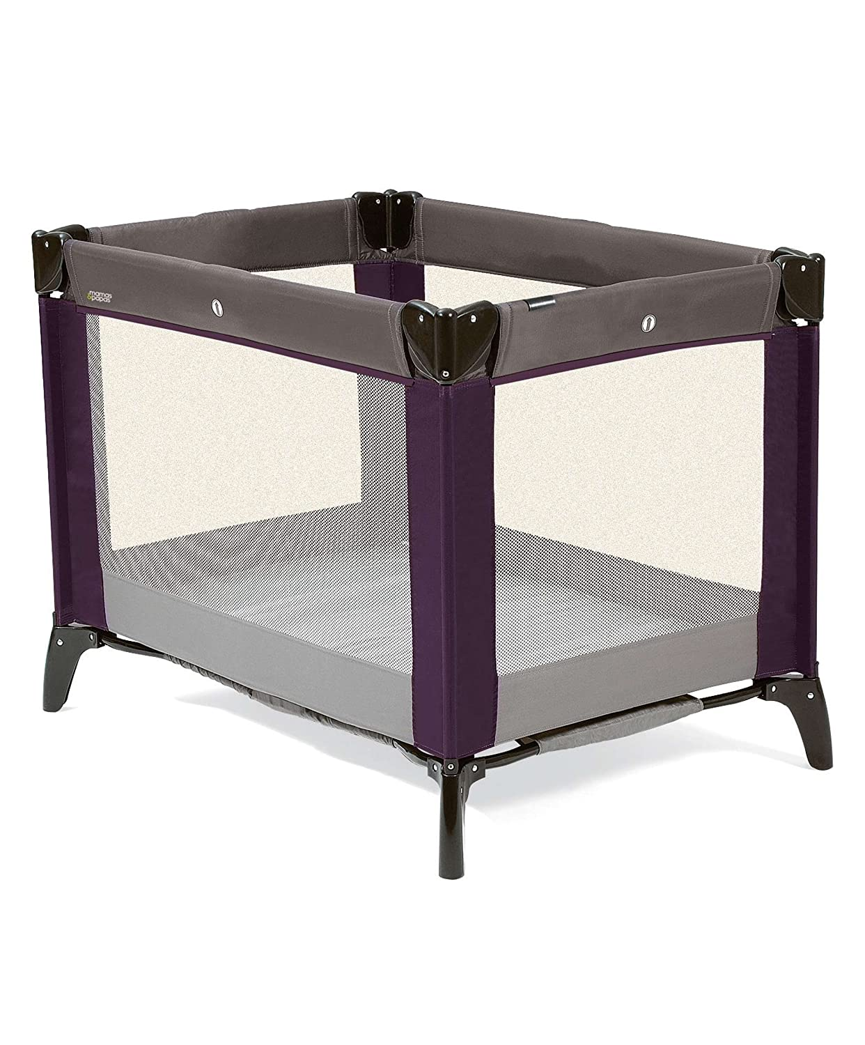 Mamas & Papas Classic Travel Cot and Play Pen, Plum/Grey 4272N0800