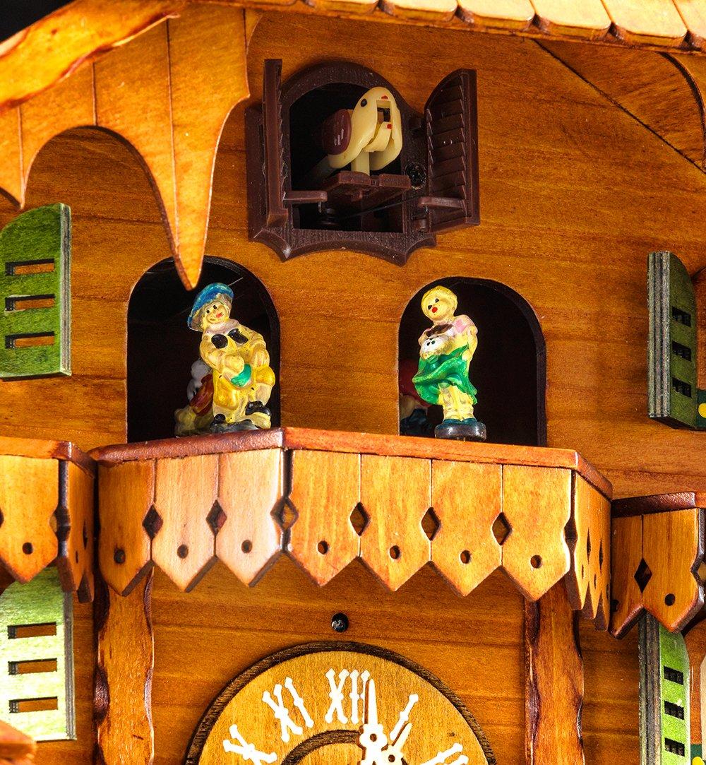 bois Chopper 12/M/élodies Diff/érentes Moulin /à eau Kintrot Horloge coucou For/êt Noire Chalet Horloge /à quartz Horloge murale en bois Pendule Mobile Bird danseurs