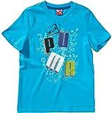 Puma École Tee Enfants Sports Loisirs T-Shirt Bleu