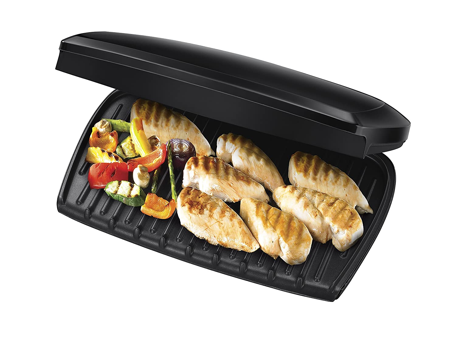 New george foreman entertaining 10 portion grill 23440 black - Drip tray george foreman grill ...