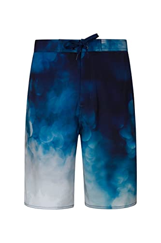 Mountain Warehouse Wave 4-Way-Stretch Mens Boardshorts - Easy Care Swim Shorts, Lightweight Beach Shorts, Quick Drying Trunks with 4 Way Stretch - for Swimming, Surfing