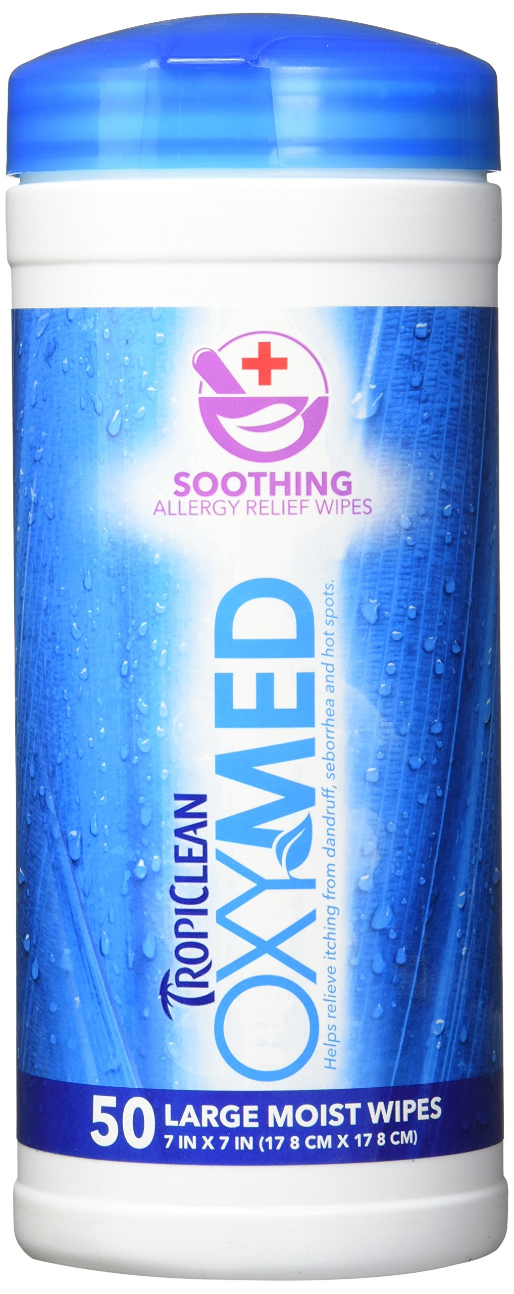 TropiClean OXYMED Soothing Relief Wipes, 50 ct