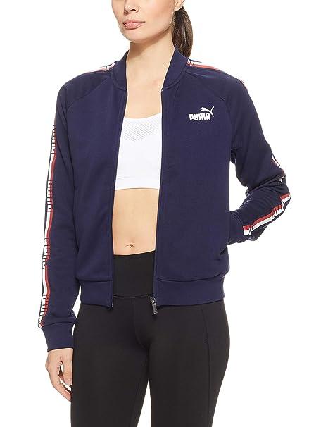 Puma Tape FZ TR Sweatshirt, Mujer, Peacoat, XXL