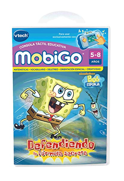 Vtech Spanish - Vtech Juego MobiGo Spongebob - En Español