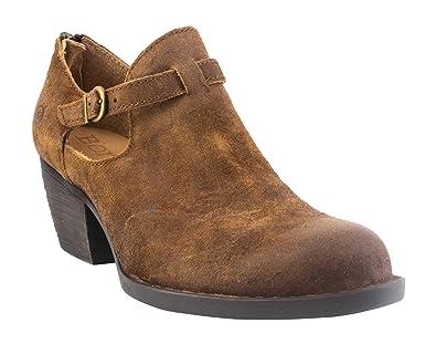 3e66156e47e2 Born Mendocino Women s Rust (Tobacco) Distressed Leather Clog Shoes (7 B(M