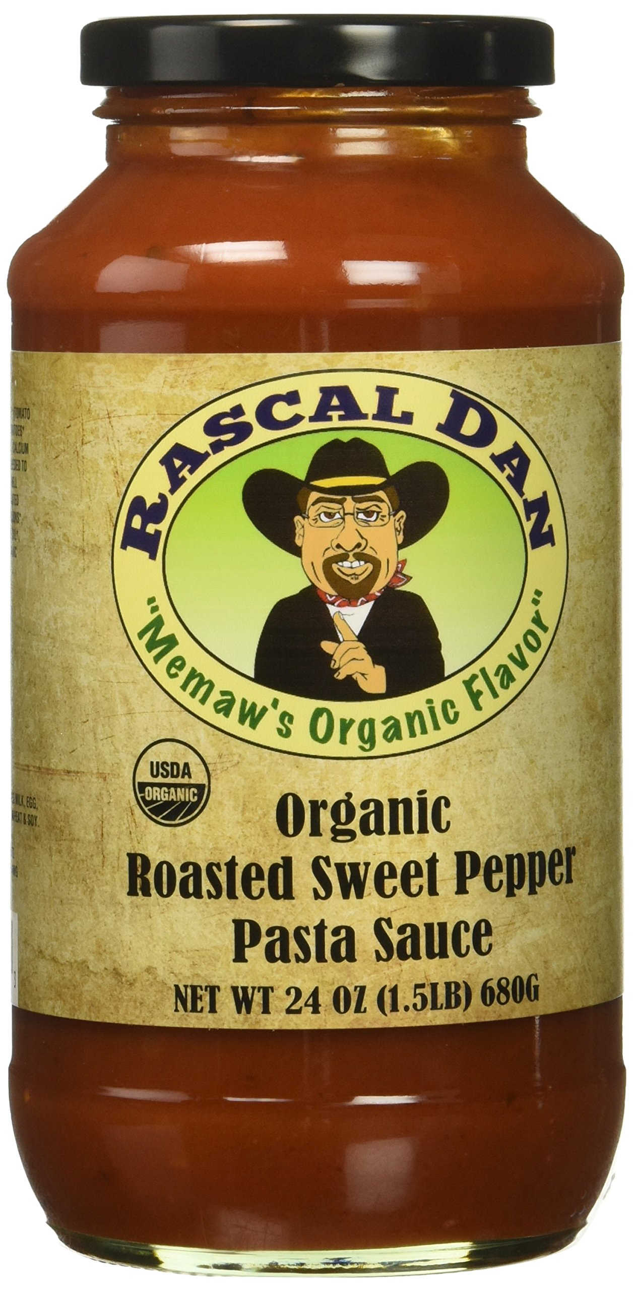 Rascal Dan Organic Food Products Pasta Family Meal with Roasted Sweet Pepper Sauce