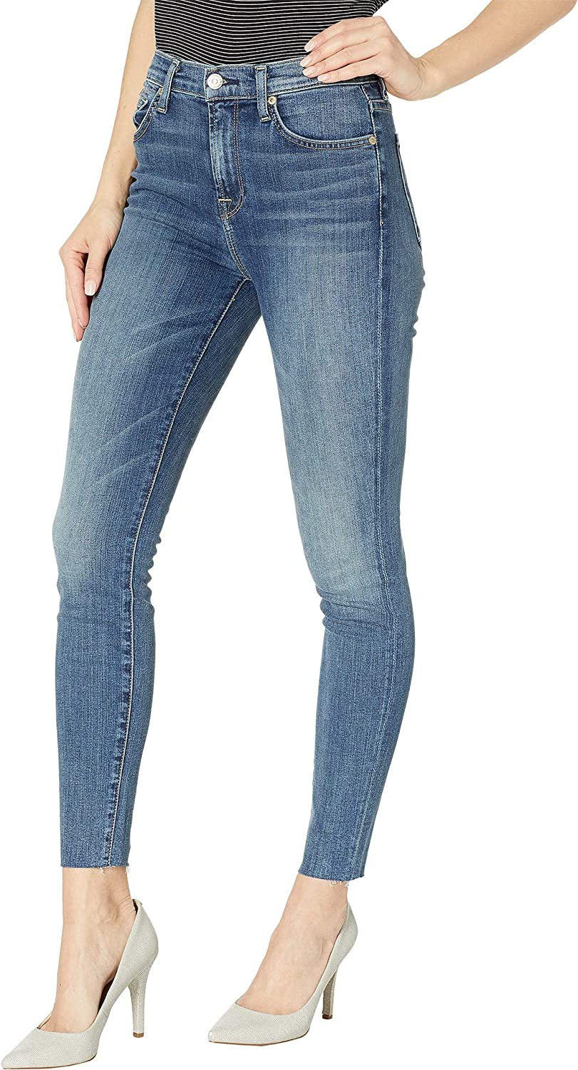 High Waist Ankle Skinny in Luck Air 7 For All Mankind Womens B