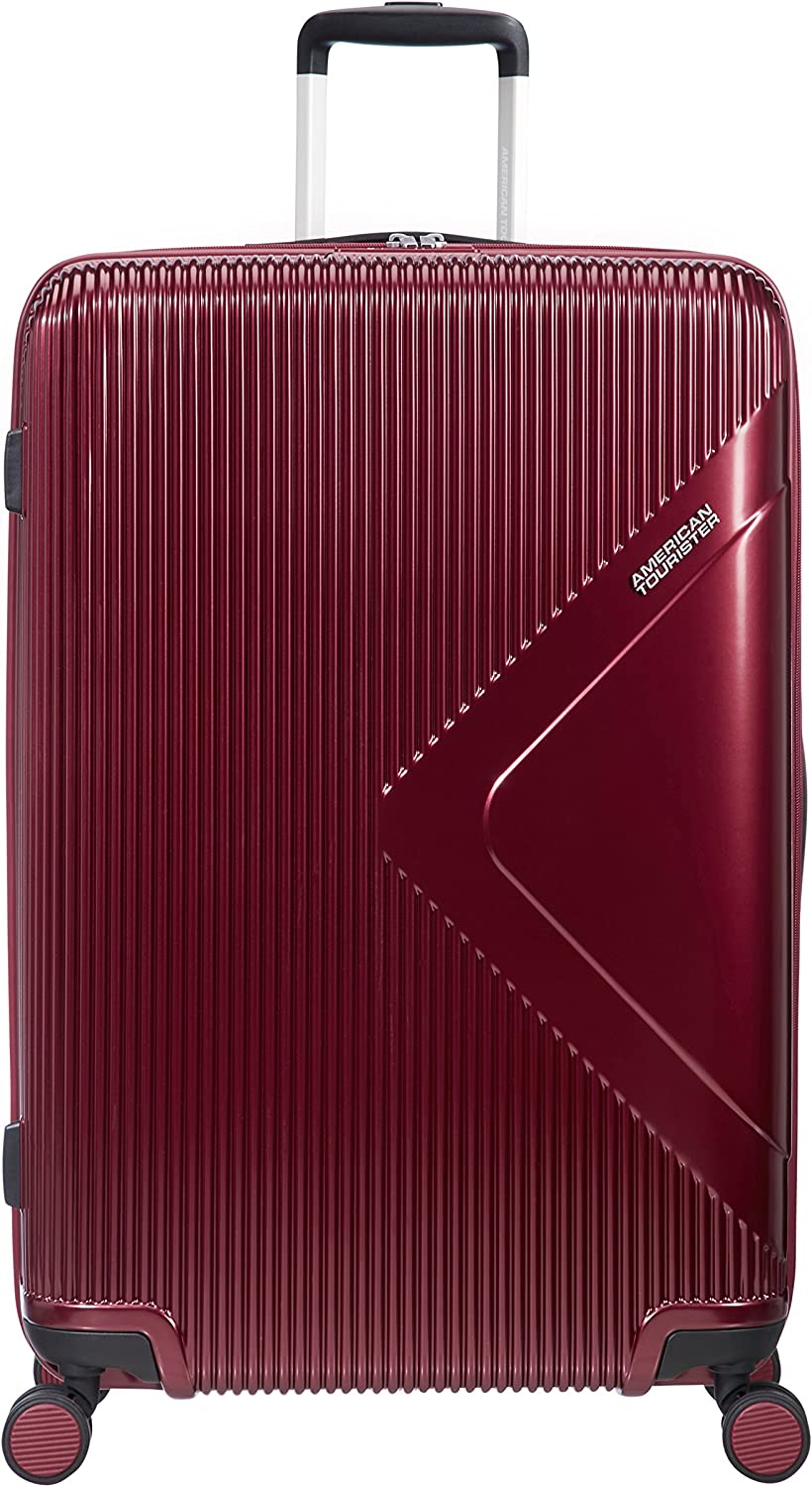 American Tourister Modern Dream - Spinner L Expandible Maleta, 77.5 cm, 114 L, Rojo (Wine Red)