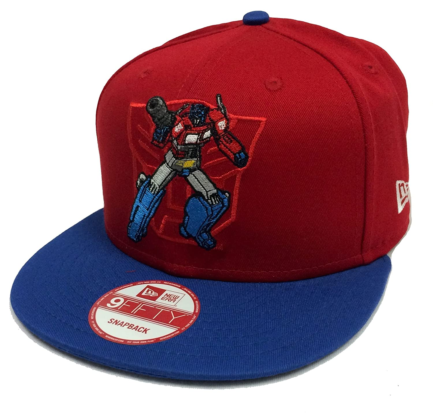 e438b9fce02 New Era 9Fifty Action Arch Transformers Optimus Prime Red   Blue Snapback   Amazon.in  Clothing   Accessories