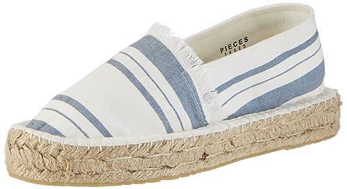 PIECES Pshaila Espadrillos Stripe, Alpargatas Mujer, Multicolor (Dusk Blue), 39 EU: Amazon.es: Zapatos y complementos