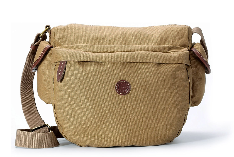 La Poet Women's Medium Hobo - Shoulder Handbag - Crossbody Bag - Purse -Water Resistant Waxed Canvas - Lightweight - Travel (Khaki)