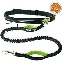 Jogging Hundeleine | Sport Laufgürtel, wasserabweisend | Leine elastisch, reflektierend 120 cm Flexi