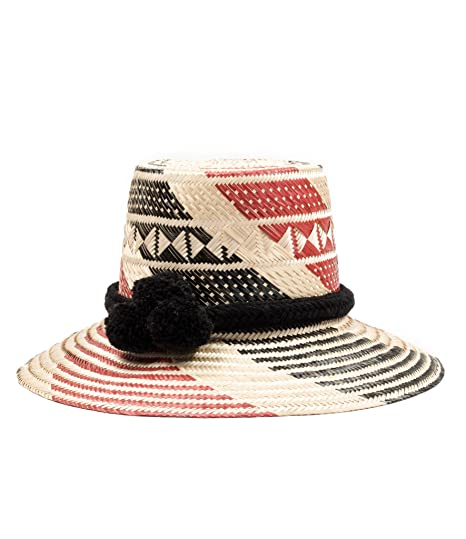 ed2eedcd12a Image Unavailable. Image not available for. Color  Handmade Wayuu Straw Hat  - Sun Hat with Pom Poms