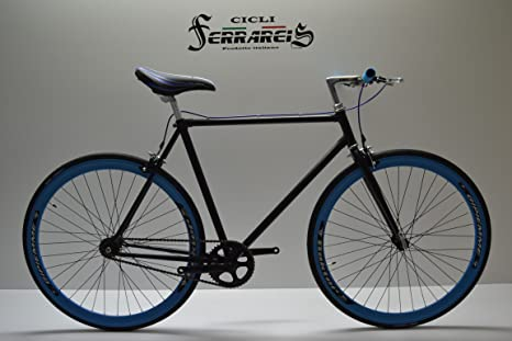Fixed Bike Single Speed bici Single Speed bici SCATTO Fisso 1 V película Nero: Amazon.es: Deportes y aire libre
