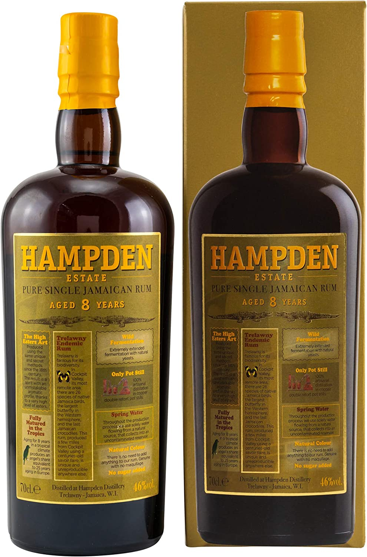 Ron Hampden 8 Years Rhum 46% 70 cl Jamaican: Amazon.es ...