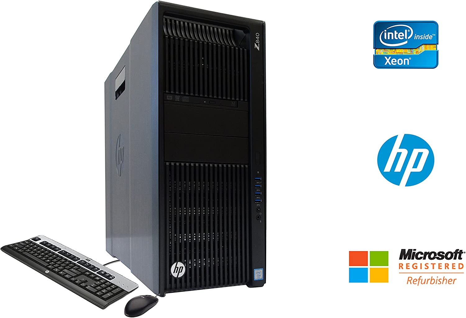 HP Z840 Professional Workstation Intel Xeon 12 Core 64GB DDR4 RAM 500GB SSD + 4TB HD NVIDIA Quadro K5000 4GB Graphics CD/DVDRW Windows 10 Pro 64-bit