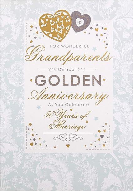 Auguri Anniversario Di Matrimonio Nonni.Hallmark Biglietto D Auguri Per Anniversario Di Nozze D Oro Per