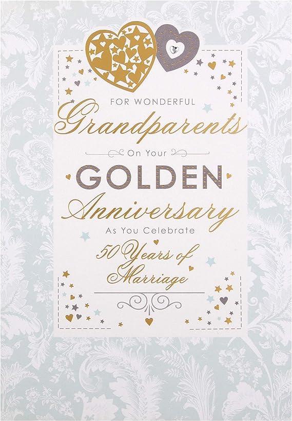 Lettera Anniversario Di Matrimonio Nonni.Hallmark Biglietto D Auguri Per Anniversario Di Nozze D Oro Per