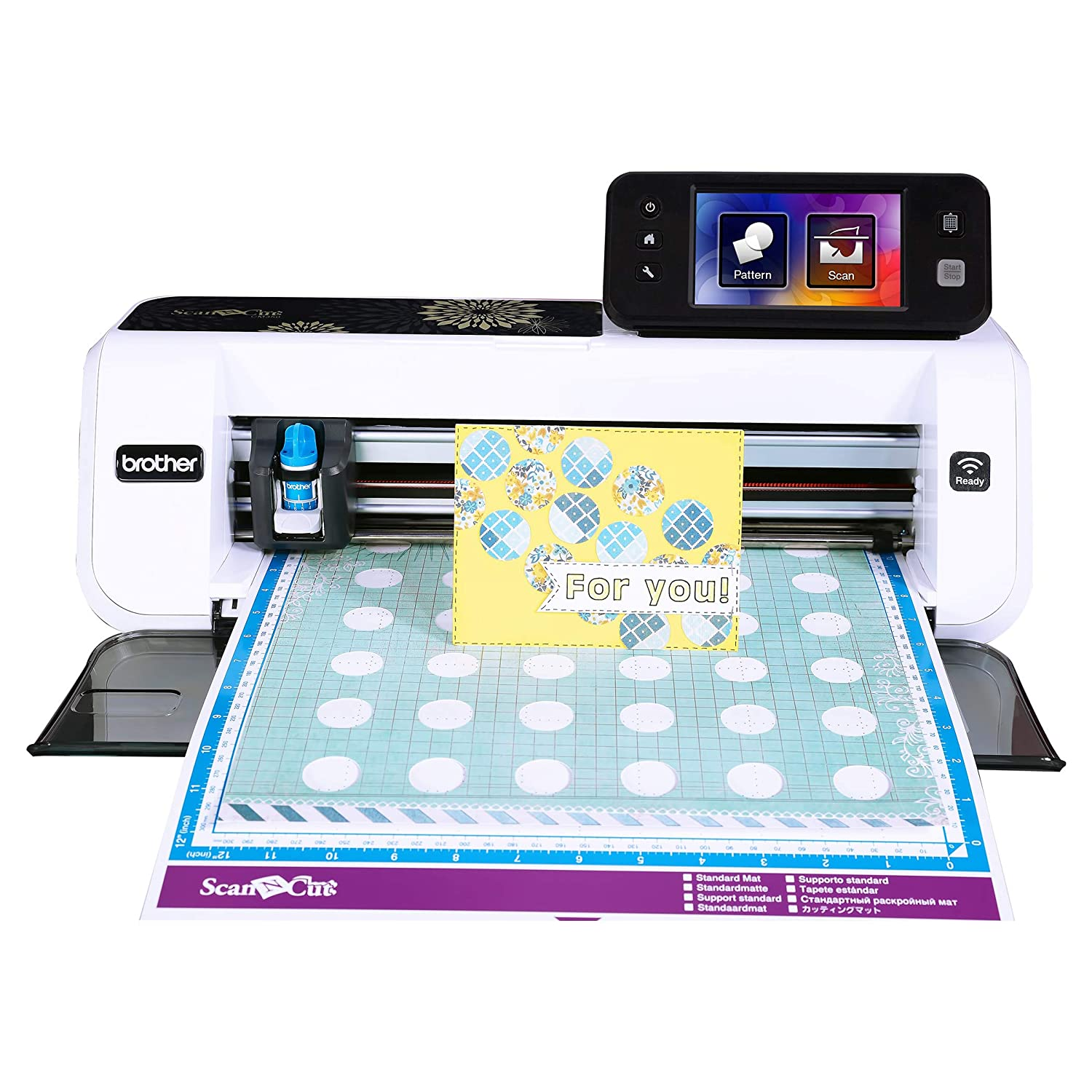 Brother Cm350 Electronic Cutting Machine Scanncut2 Heavy Duty Printed Circuit Board 485 Lcd Touch Screen Wireless Network Ready 300 Dpi Scanner 631 Built In Designs