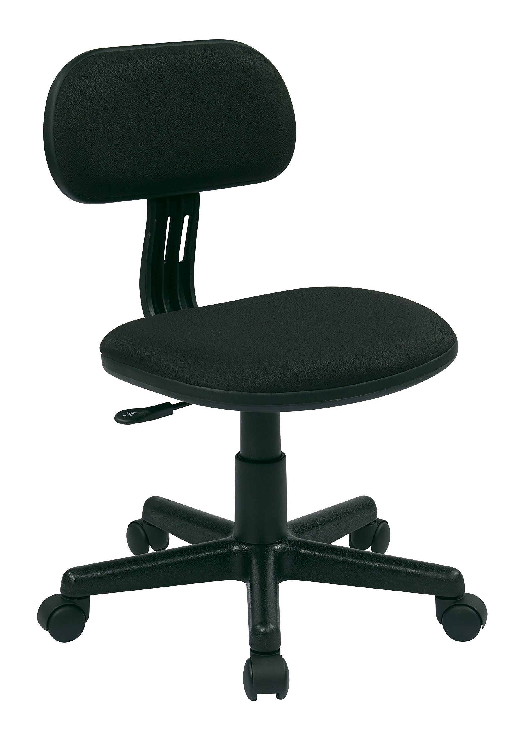 Office Star Fabric Seat and Back Armless Task Chair, Black