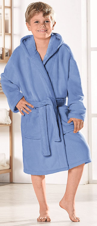 Betz Peignoir dint/érieur /à Capuche pour Enfant Style Couleur Bleu Clair Tailles 128-164 Taille 152