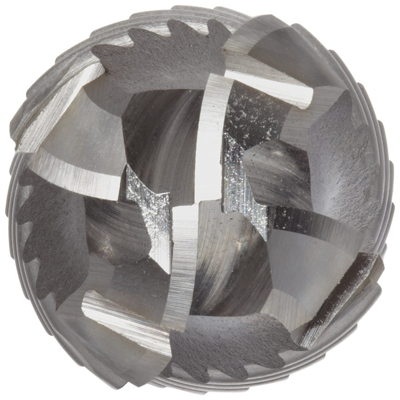 Roughing Cut Weldon Shank 4.5 Overall Length Uncoated 30 Deg Helix 6 Flutes Bright 1.25 Cutting Diameter Finish YG-1 E2193 Cobalt Steel Ball Nose End Mill 1.25 Shank Diameter