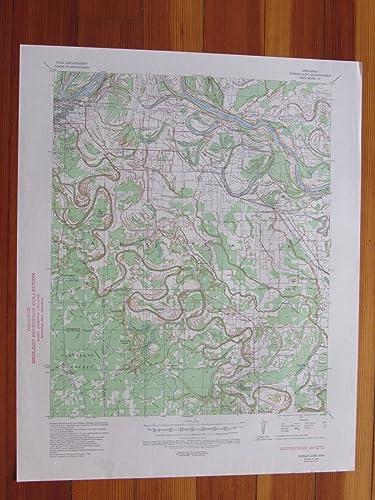 Amazoncom Noble Lake Arkansas 1944 Original Vintage Usgs Topo Map