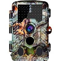 icefox Wildkamera 20MP 1080P 46 IR LEDs Nachtsicht bis zu 65ft mit IP66 Wasserdichte Überwachungskamera für Wildtierjagd und Heimsicherheit