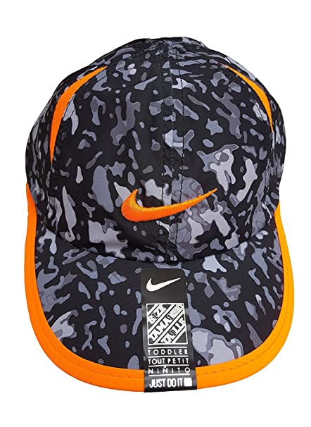 reliable quality utterly stylish best choice Nike Kids Hat, Dri-FIT Adjustable Cap (12/24 Months, Anthracite/Orange)
