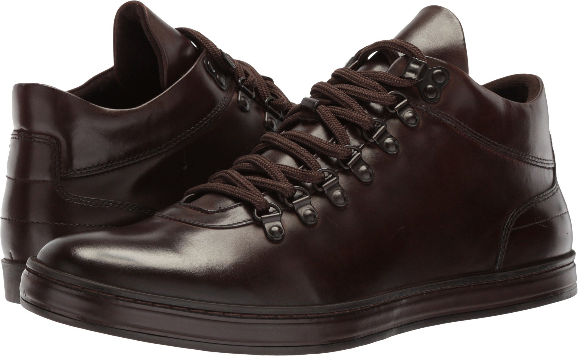 Kenneth Cole New York Men's Brand Tour Pb Sneaker, Brown Leather, 12 M US