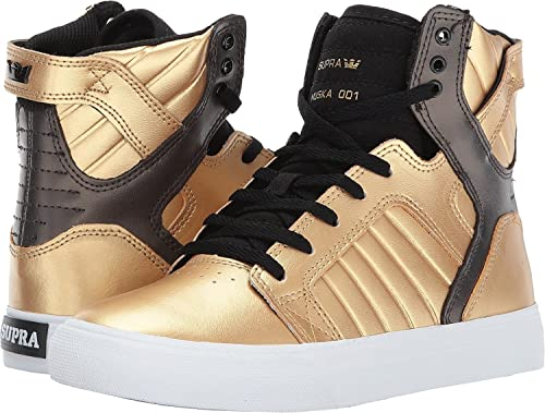 Supra Kids Boy's Skytop (Little KidBig Kid) GoldBlackWhite Athletic Shoe