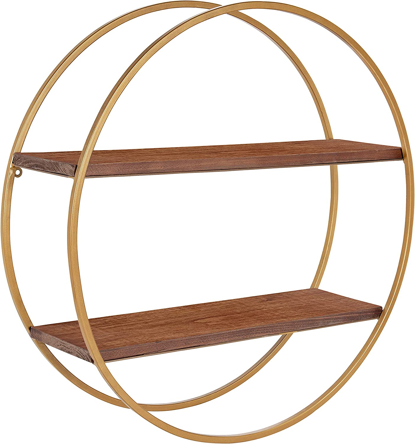 Kate and Laurel Sequoia Modern Round Wall Shelf, 24