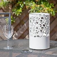 Joondalup Garden Patio Table Top Bio-Ethanol Burner Indoor Outdoor Fireplace White