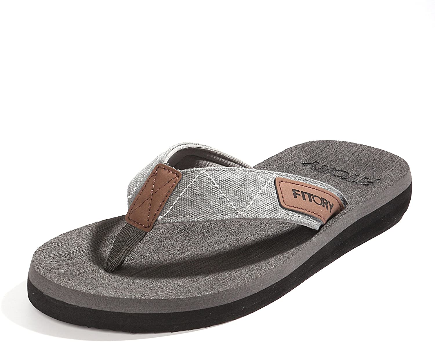 FITORY Men's Flip-Flops, Thongs Sandals Comfort Slippers for Beach Size 7-13