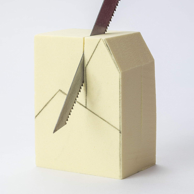 6 x 6 x 3 inches Polyurethane Foam Carving Block Sculpture Block