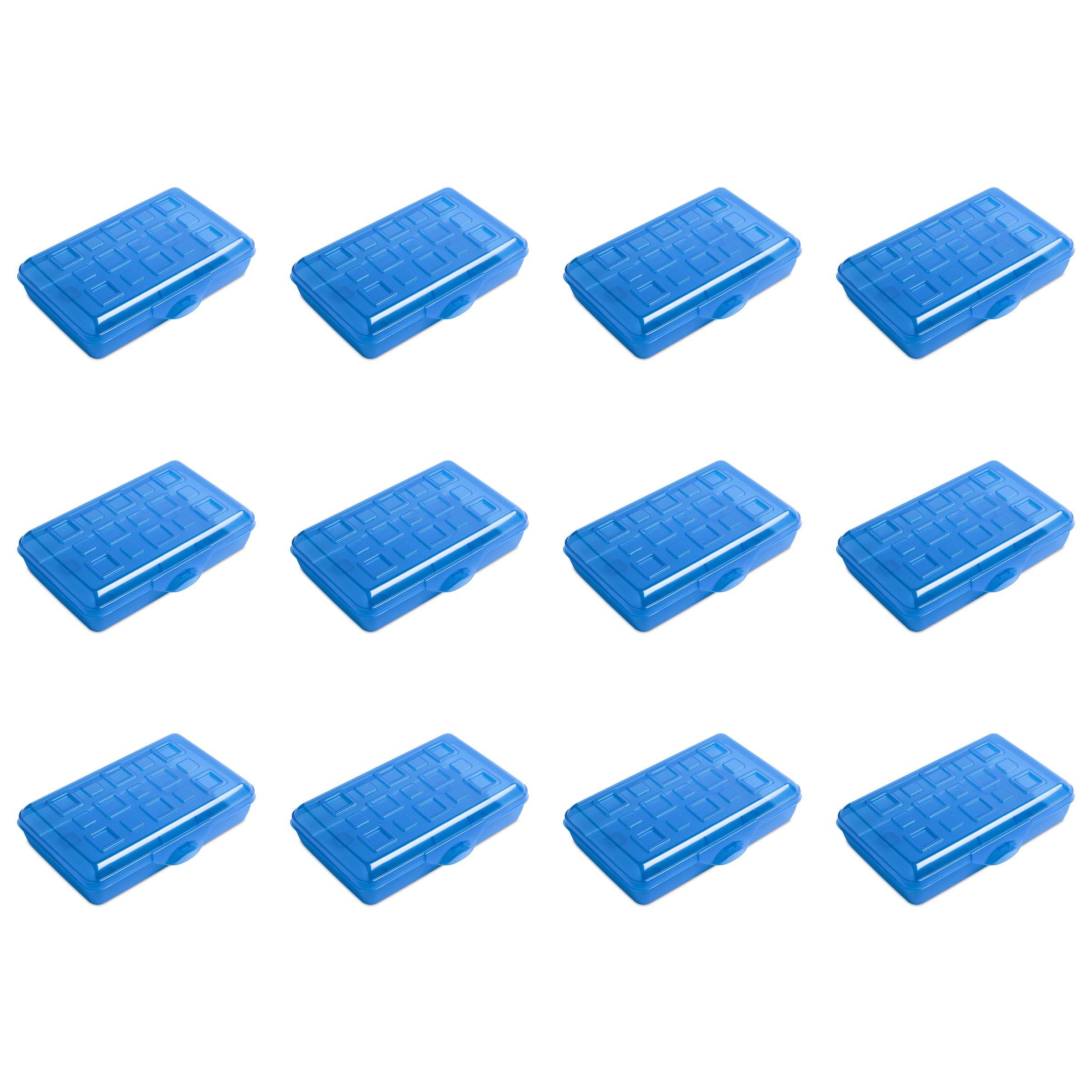 Sterilite 17224812 Small Pencil Box, Splash Tint, 12-Pack by STERILITE