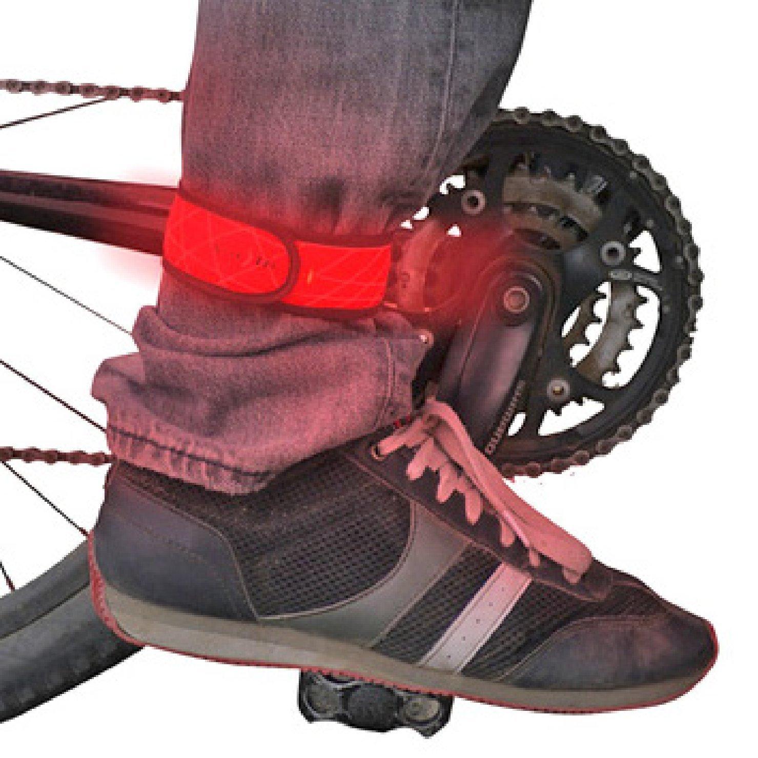 LED Sicherheit Slap Band Armband für Radfahren, Laufen, Joggen, und zu Fuß – Best Reflektierende Flip Gürtel für hohe Sichtbarkeit – Beste Safety Gear für Damen, Herren & Kinder