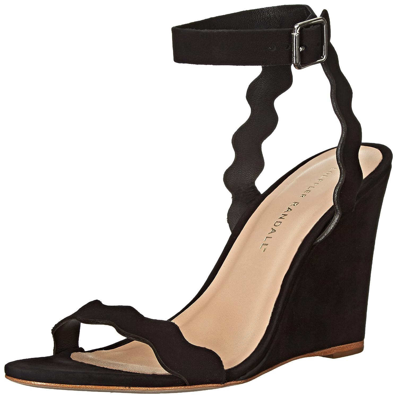 Loeffler Randall Women's Piper Wedge Sandal B015ZNJ32W 5 B(M) US|Black Nubuck