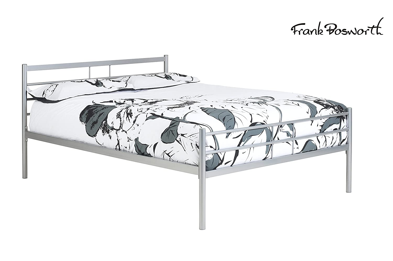 KYOTO Bettgestell aus Metall – Silber Fertig 5 ft King Size Bett ...