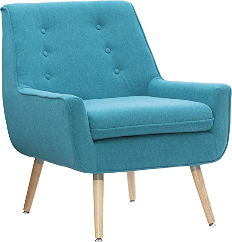 Linon Reid Bright Blue Accent Chair