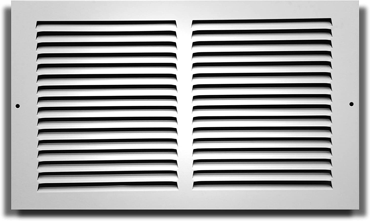"""30"""" X 6"""" Baseboard Return Air Grille - HVAC Vent Duct Cover - 7/8"""" Margin Turnback for Flush Fit with Baseboard Work - White"""