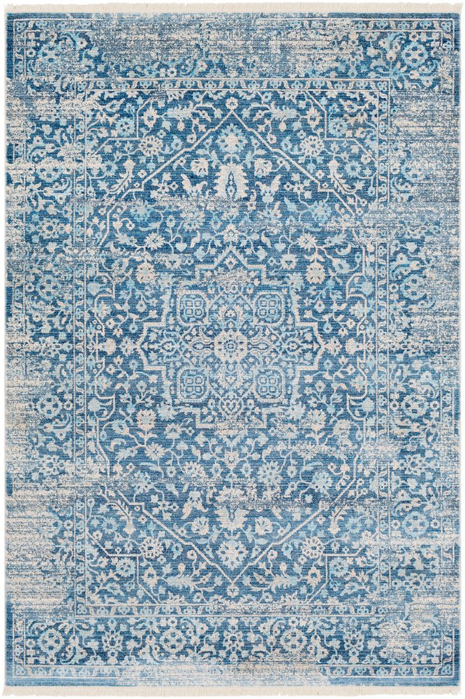 Hammond Blue Updated Traditional Area Rug 2 x 3