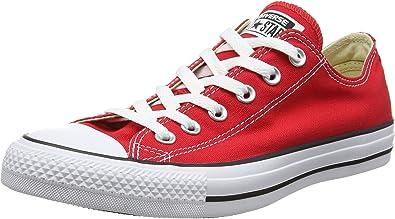 Converse All Star Ox, Chaussures de Sport pour Homme - Rouge - Rouge, 42.5  (M) EU Mujer/41 (M) EU Hombres EU