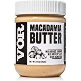 Vör Pure Macadamia Nut Butter Spread (11oz) | Only One Ingredient | No Sugar, No Salt | Vegan, Paleo, Keto, Whole 30 (11oz Jar)