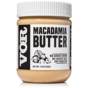 Vör Pure Macadamia Nut Butter Spread (11oz) | Only One Ingredient | No Sugar, No Salt | Vegan, Paleo, Keto, Whole 30 (11oz Jar)