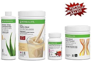 Programa completo herbalife compuesto por batido vainilla formula 1, bebida aloe vera sabor mango, extracto de te y proteinas: Amazon.es: Hogar