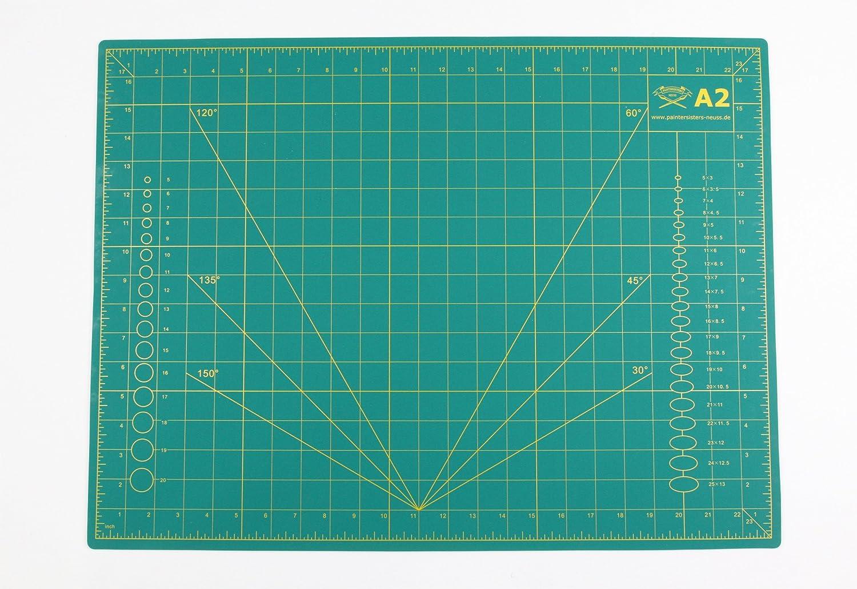 beidseitig Bedruckt Paintersisters Schneidematte A3 = 30x45 cm selbstheilend cm /& inch