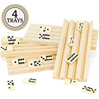 Set of Four Plastic Domino Trays by Brybelly